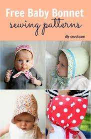 Free Baby Sewing Patterns Unique Free Baby Bonnet Sewing Patterns DIY Crush