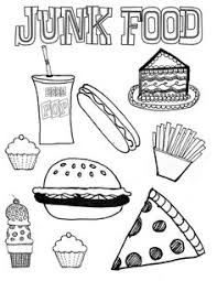 Small Picture Healthy Food Coloring Page Worksheets Kindergarten and Food