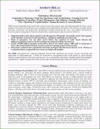 General Manager Resume Sample 44 Methods For Your Accomplishment