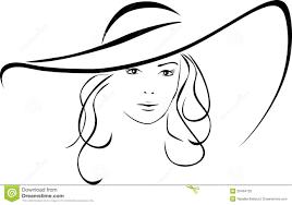 Silhouet Van Mooie Vrouw In Een Elegante Hoed Vector Illustratie -  Illustration of geïsoleerd, zwart: 26494732