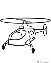 Small Picture Helicopter Coloring Page