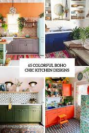 65 Colorful Boho Chic Kitchen Designs Digsdigs