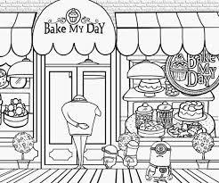 24 Shop Coloring Page Shop Coloring Page Twisty Noodle Sweet Shop Coloring Page