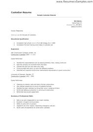 Janitor Resume Amazing 6524 Janitor Resume Sample Janitor Resume Sample Create My Resume Janitor