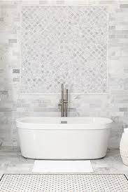White bathroom tiles Square Abbotsford Marble Inspired Collection Featuring White Tile The Home Depot Flooring Wall Tile Kitchen Bath Tile