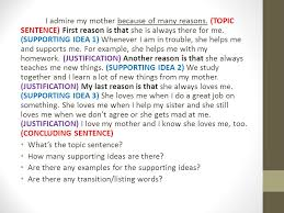 writing an opinion paragraph about someone you admire ppt video 16 i admire my mother