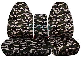 ford f 150 60 40 high back brown and green military camo seat covers