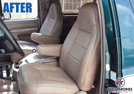 National parts depot has you covered! 92 96 Ford Bronco Xlt Driver Side Lean Back Perforated Leather Seat Cover Tan Ebay