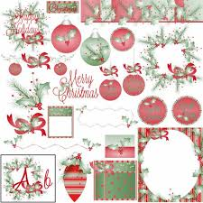 Boughs Of Holly Clipart Make Your Own Christmas Party Favors Etsy