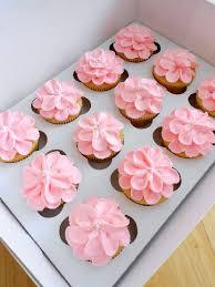 Flower Themed Cupcake Frosting For Girls Birthday Bash Cupcake