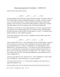 Balance Equations Problems Jennarocca