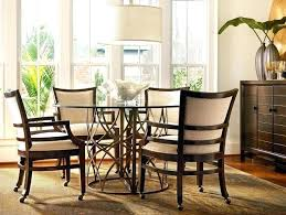 kitchen chair on casters fantastic dining room table and chairs with wheels with best dining chairs