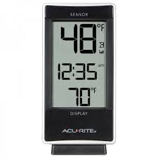 acurite digital thermometer with indoor outdoor temperature 02059