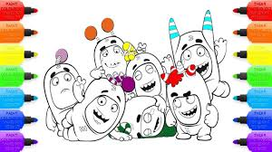 Oddbods Cartoon Coloring Book Coloring Page For Kids Video With