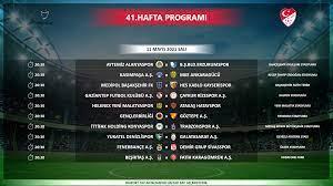 Süper Lig'de son üç hafta maçlarının programı açıklandı