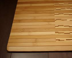 fantastic bamboo rugs in good plait for the kitchen decorative completion