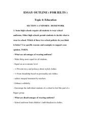 essay outline essay outline for ielts topic culture 9 pages essay outline 4 education 1