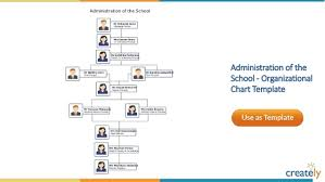School Organization Charts Organizational Chart Templates By Creately