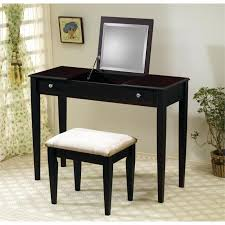 brown makeup vanity coaster wood two drawer makeup vanity table set with mirror in dark brown