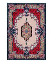 ivory pink damask bellagio rug