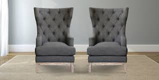 gray wingback chair. Wonderful Modern Wingback Chair At Craft Associates Chairs In Grey Wool Gray