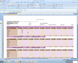 Employee Time Sheets Excel Employee Time Sheet Excel Spreadsheet Template Etsy