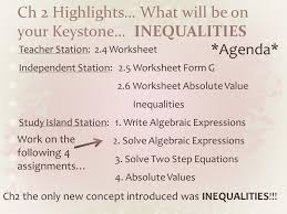 ch 2 highlights what will be on your keystone inequalities teacher station 2 4
