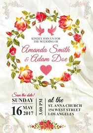 Elegant Wedding Invitation Template By Photoshop Psd Free