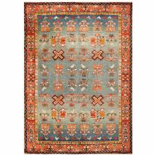 folk art vintage german rug for