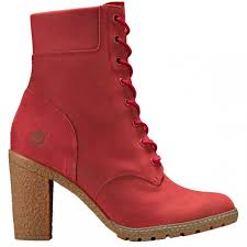 heels red timberland women s ruby red glancy 6 inch boots womens ruby nubuck