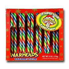 Amazon Com 12 Count Warheads Candy Cane Hard Candy Grocery