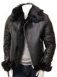 men s black toscana sheepskin biker jacket exminster front