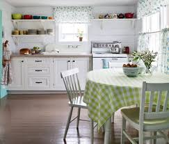 Kitchen:Vintage Shabby Chic Kitchen With Black White Floor Also Bamboo  Blinds Remarkable Shabby Chic