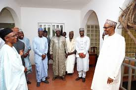 Image result for president buhari in jummah prayer with el rufai