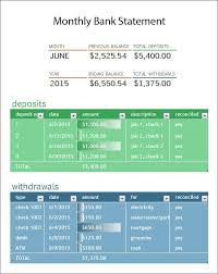 account statement templates 9 free bank statement templates word excel sheet pdf