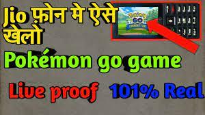 Jio phone me Pokemon go game kaise khele || Pokémon go game in jio phone -  YouTube