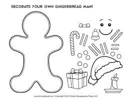 Coloring Pages Gingerbread Man Free Coloring Pages