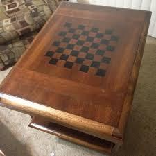 Vintage Wooden Board Games How To Make A Custom Chess Board From An Old Wooden Table For 85