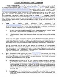 Agreement Form Doc Enchanting Az Residential Lease Agreement Form Erkaljonathandedecker