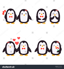 cute penguins in love.  Love Cute Penguins Set  Happy Couple In Love Penguins Penguin Give Flowers  With With Penguins In Love P