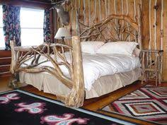 ... queen size bed frame as unique for wood bed frame driftwood bed frame  ...