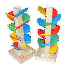 wood tree marble run ball track game toy building blocks children intelligence educational toy