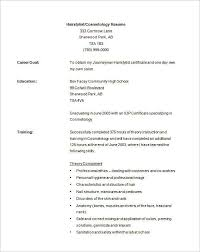 Cosmetologist Resume New Cosmetology Resume Template Cosmetology Resume Templates
