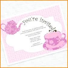 Amazing Party Invitation Template Word Tea Party Invitation Template