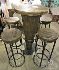 morella wood pub table 599 1225 51003416 i celadonathome com with high top round bar tables and on 1415x1686px
