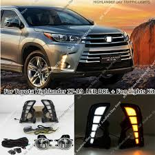 2017 Highlander Fog Light Details About Daytime Running Fog Light Led Drl W Wiring X Kit For Toyota Highlander 2017 2019