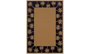 monarch edisto beige black palm tree border area rug