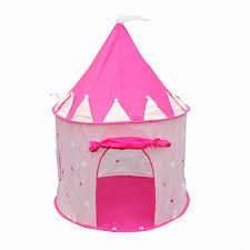 portable pink pop up play tent kids girl princess castle outdoor house x4e3