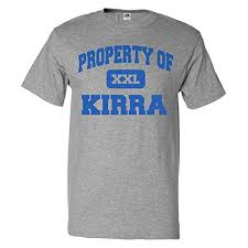 Amazon Com Shirtscope Property Of Kirra T Shirt Funny Tee
