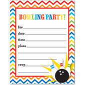 Bowling Party Invitation Kids Birthday Party Invitations Bowling